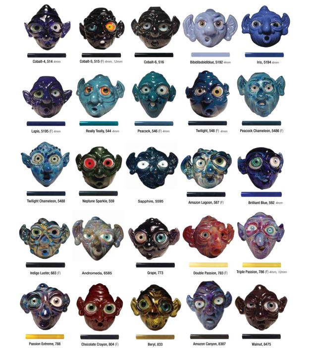 Color Charts Mountain Glass Arts
